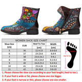 Retro Handmade Flower Genuine Leather Boots
