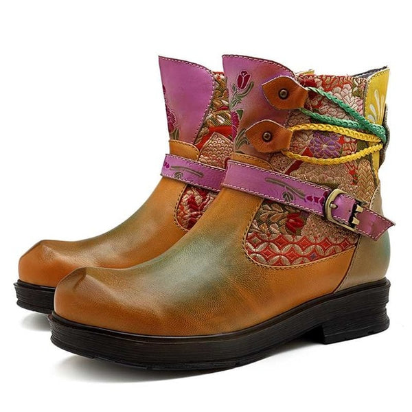Female Vintage Motorcycle Boots