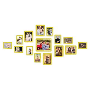 "Magnetic Photo Picture Frames 6"" X 4"" 7 X 5 Inches Wall Decor Movable Magnetic Photo Frame SET 15 Pcs / Pack"