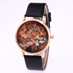 Luxury Fashion Lion Picture Watch
