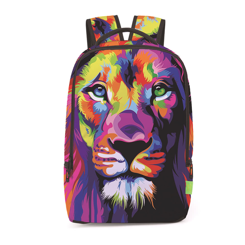 Trendy Unisex smart Breathable Lion Printed Backpack