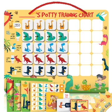 Potty Training Chart for Toddlers Magnetic Reuseable – Dinosaur Design Waterproof - Chart - Athena Futures Inc.