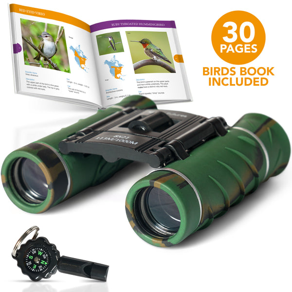 Binoculars For Kids 8X21 Compact Camouflage With High Grade Optics - Athena Futures Inc.