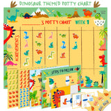 Potty Training Chart For Toddlers – Dinosaur Design - Reward Your Child – Sticker Chart, 4 Week Chart