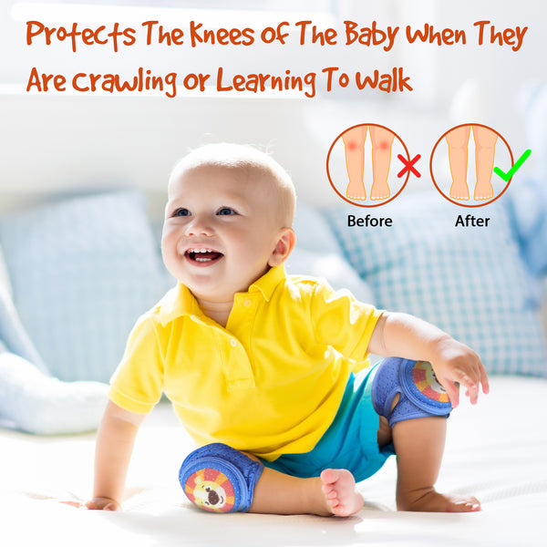 Baby Knee Pads For Crawling - Adjustable Padded Accessories for Infant to Toddler Boys and Girls