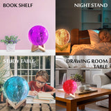 Moon Lamp Galaxy Light Night Light Kids Lamp 4.8 inch 16 Colors LED with Timer – 3D Star Lamp – Moon Light with Wood Stand, Remote USB Rechargeable with Gift Box for Baby Boys Girls - Athena Futures Inc.