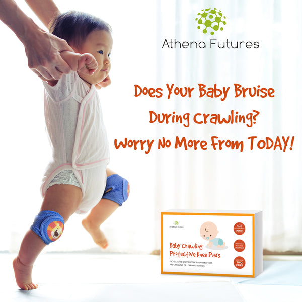 Baby Knee Pads For Crawling - Adjustable Padded Accessories for Infant to Toddler Boys and Girls - Athena Futures Inc.