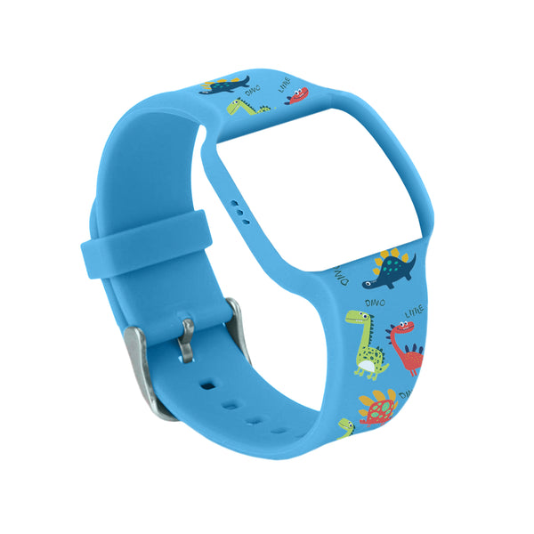 Dinosaur Pattern Blue Colored Watch Band for Use with Athena Futures Potty Training Watch - Athena Futures Inc.