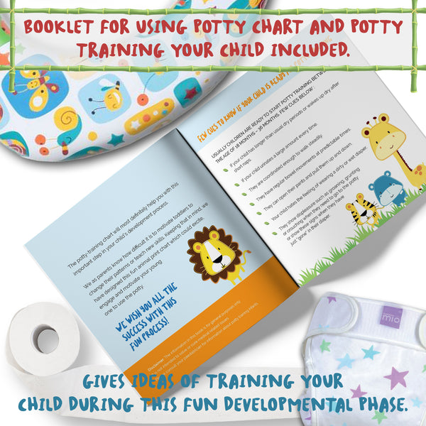 potty training chart for toddlers – reward your child – sticker ...