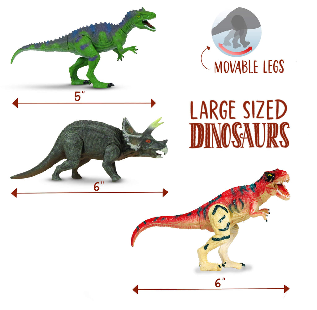 Dinosaur Toys, 16 Items - For Boys Girls Of All Ages - Perfect Gift - Athena Futures Inc.