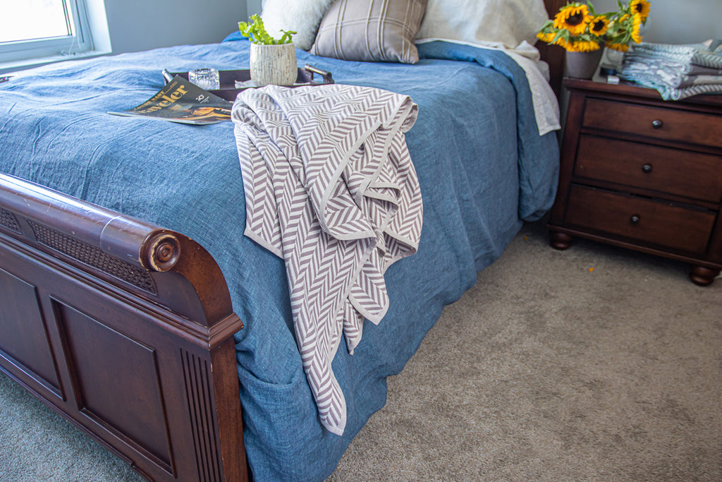 Cozy throw blanket for the whole family by Breganwood Organics
