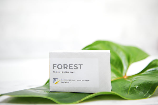 FOREST - natural soap with pine and fir essential oils and French green clay