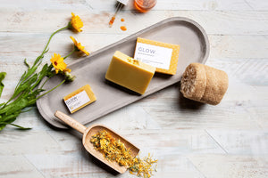 GLOW - mild handmade soap formulated for dry sensitive skin