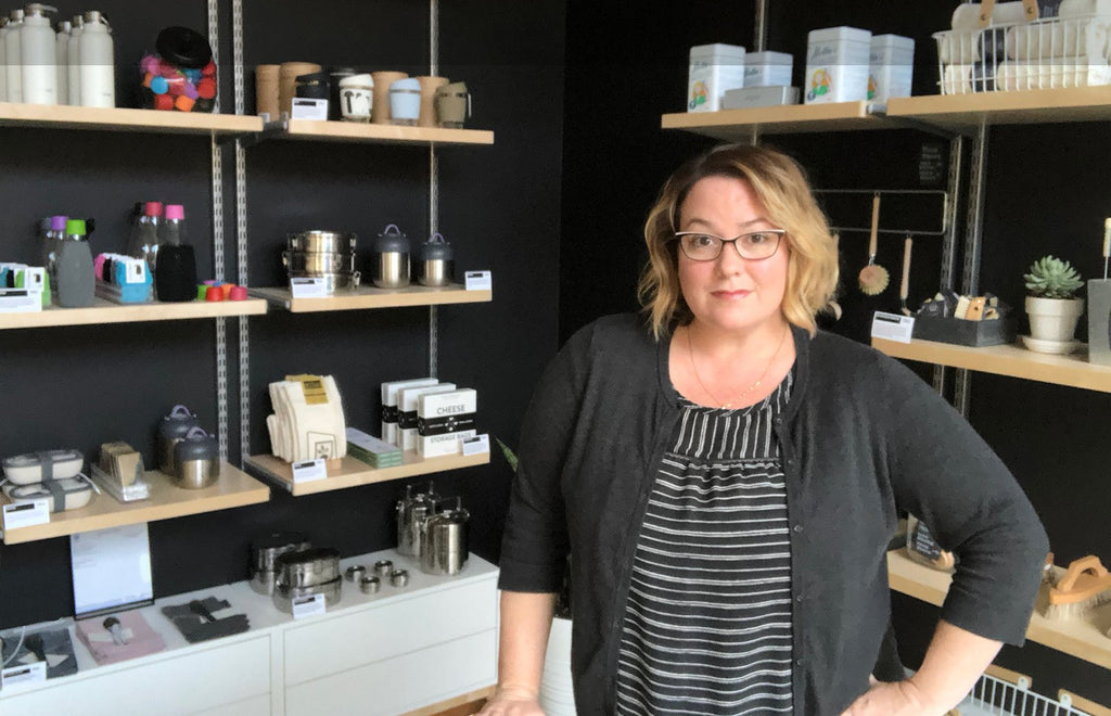 Owner Jolene at Public Goods and Services in West Seattle