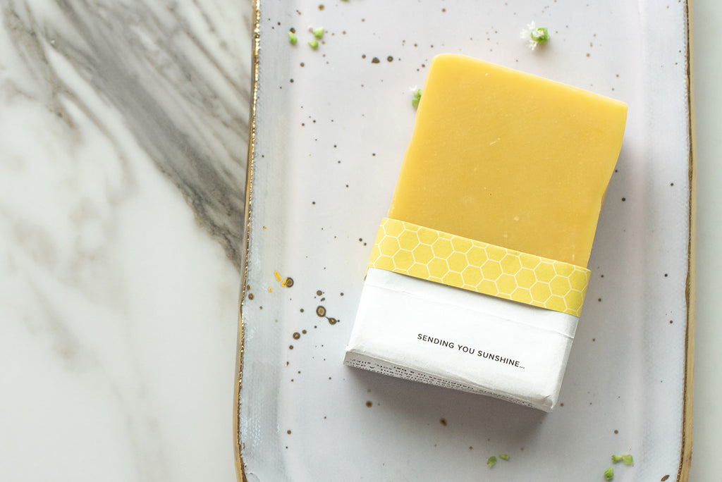 Pep Soap Celebration Inspiration SUNSHINE with raw honey and ylang ylang essential oil