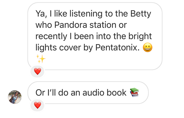 Bright lights cover by Pentatonix and Betty Who on Pandora station.