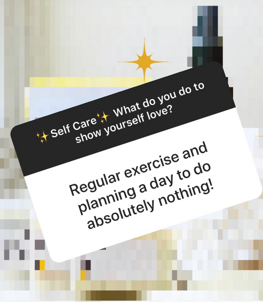 Regular exercise and planning a day to do absolutely nothing!