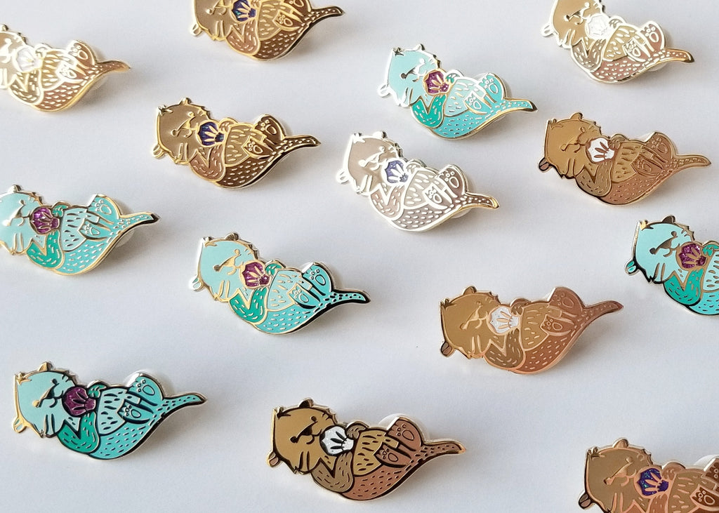 Fun Sea Otto Pins by LanaBetty based in Vancouver