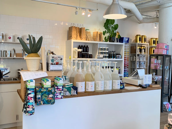 A zero-waste refill store in the quaint small community of Port Moody