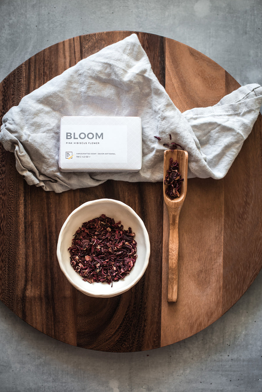 BLOOM by Pep Soap Co. with organic hibiscus and rose clay