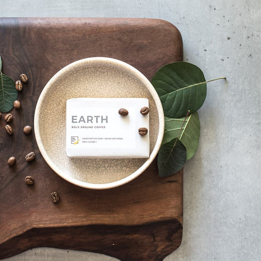 Coffee Soap EARTH by Pep Soap Co. with finely ground coffee to massage and exfoliate
