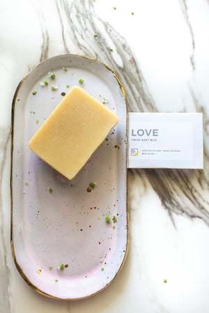 Goat Milk Soap LOVE by Pep Soap Co. with Fresh Goat Milk, Cedarwood, Rosemary, and Lavender essential oils