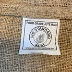burlap, food grade bag, produce bag, market bag