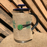 french press, bodum, coffee, coffee press, coffee bag, coffee cover, upcycle, sustainable, ecofriendly