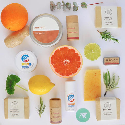 Small business products from Wild Sage & Co, Kite Nest, Kutis and Earth Conscious all available at Acala