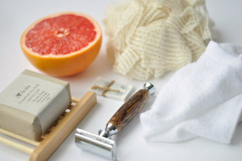 Zero waste products including a bamboo razor and soaps