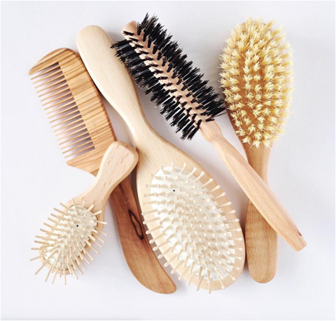 Plastic free hair brushes and combes