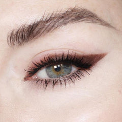 brown winged eyeliner