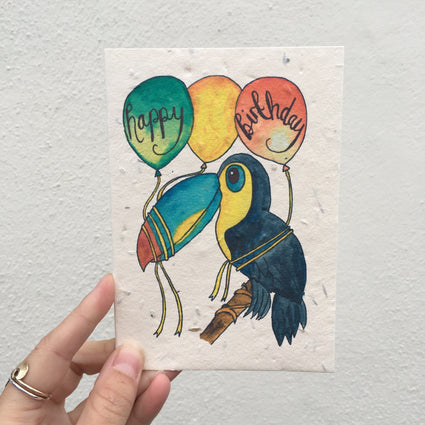 Plantable Birthday Card- Parrot cards Acala