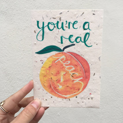 Plantable Greetings Card- Peach