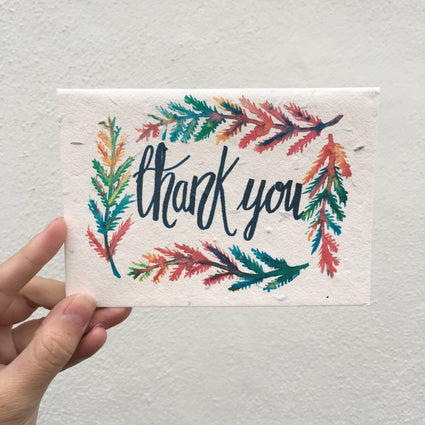 Plantable Thank-You Card cards Acala