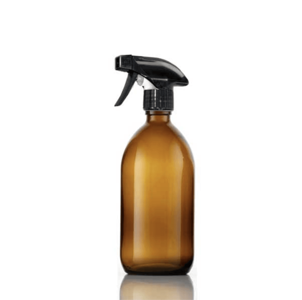 Customisable Amber Glass Spray Bottle