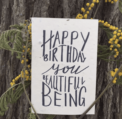Plantable Birthday Card- Beautiful Being