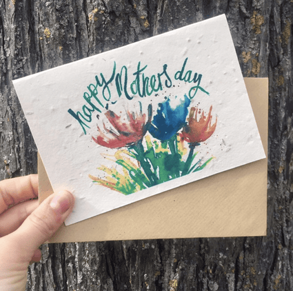 Plantable Mother's Day Card- Flowers
