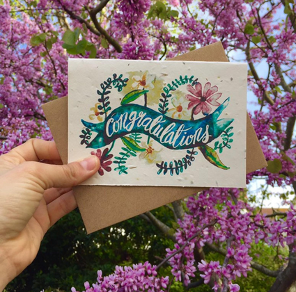 Plantable Greetings Card- Congratulations - Acala