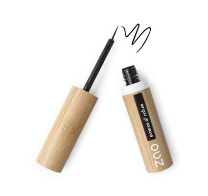 Black Refillable Liquid Eyeliner from Zao eye liner Zao Cosmetics