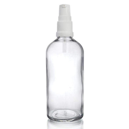 100ml Clear Glass Dropper Bottle with Spray Pump - Acala