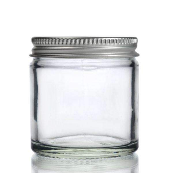 Glass Jar - Clear Glass Ointment Jar With Aluminium Cap
