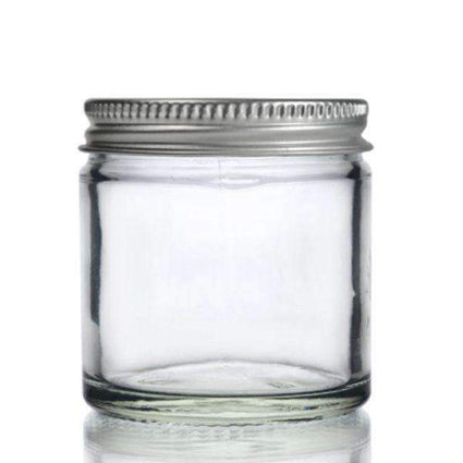 Clear Glass Ointment Jar with Aluminium Cap