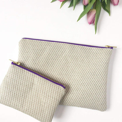 Organic Hemp-Cotton Makeup Bag from the ElizaEliza Freedom Collection - Acala