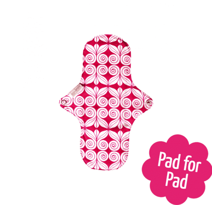 Organic Cotton Night Pad from EcoFemme menstrual pad EcoFemme