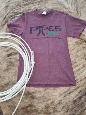 Pipes Heather Maroon T-shirt