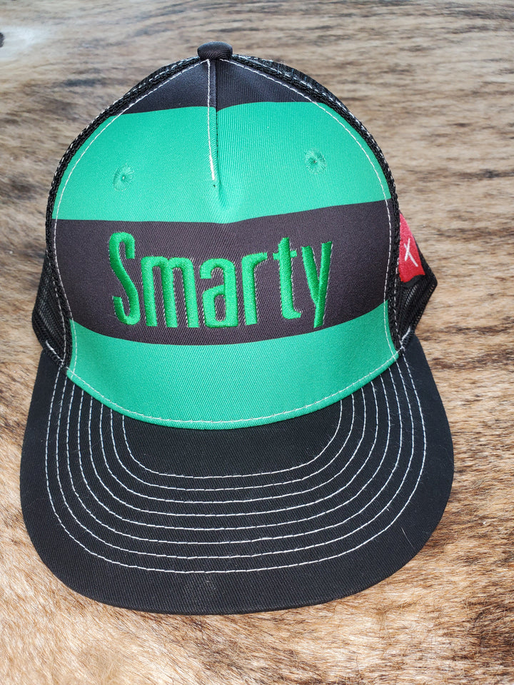 Green and Black Striped Smarty Faith Hat