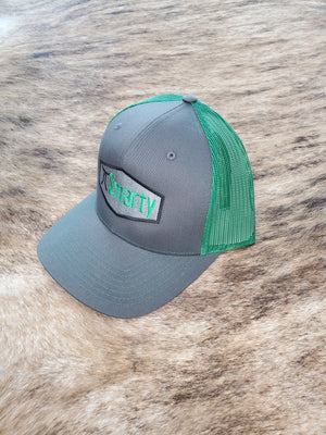 Grey and Green Patch Snapback Hat