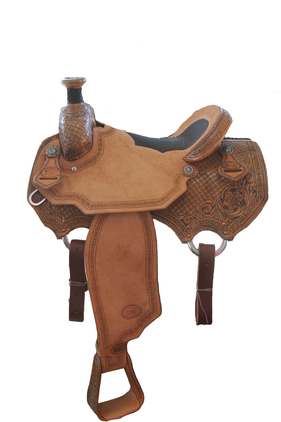 Smarty Tooled Antique Roper Saddle