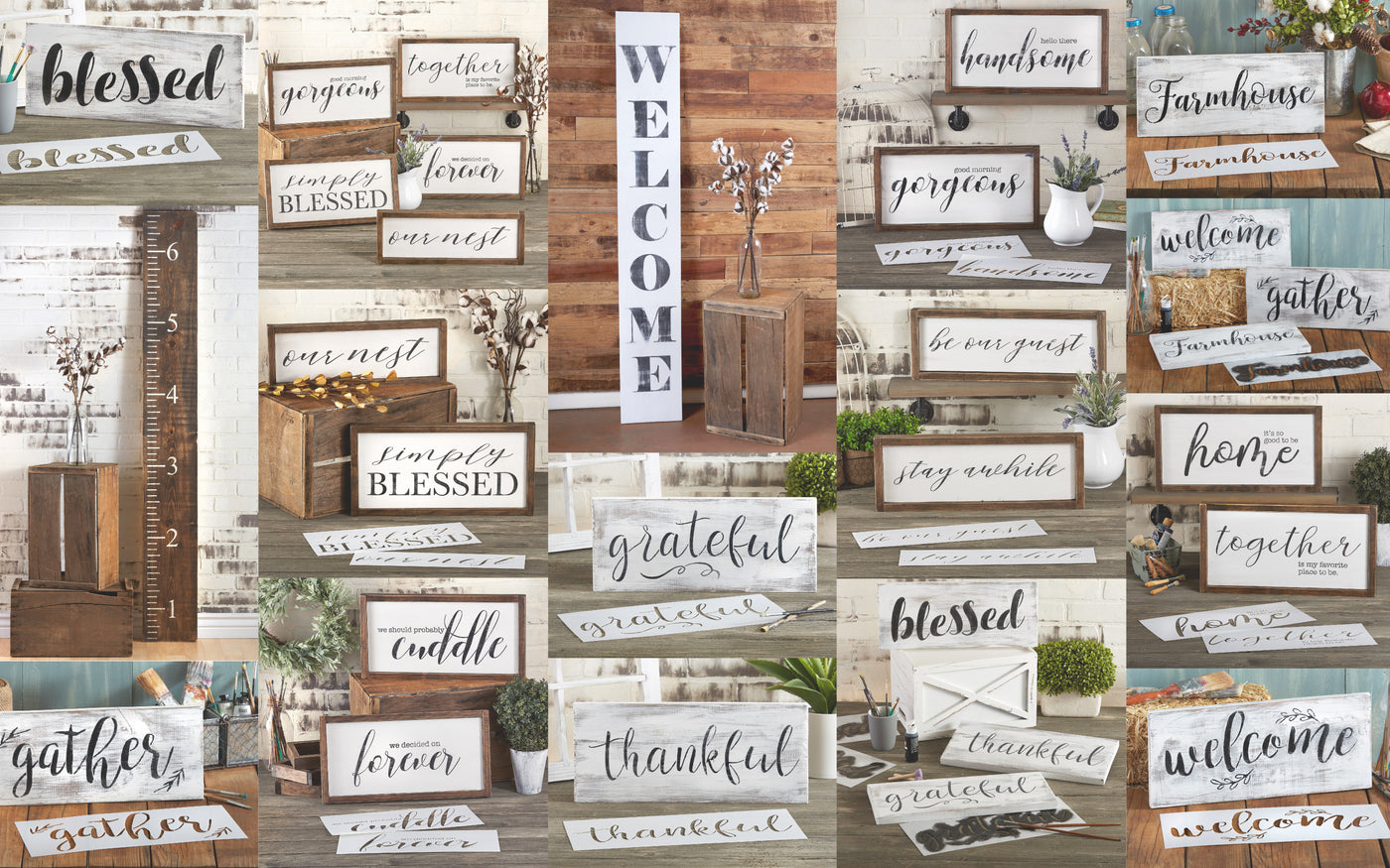 farmhouse sign stencils for painting on wood diy home decor farmhouse sign stencils for painting on wood diy home decor